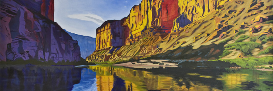 Title: RIVER VIEW OF THE CANYON